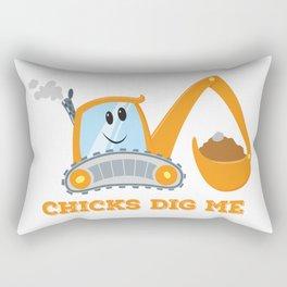 Chicks Dig Me Rectangular Pillow