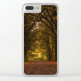 Covered Road Clear iPhone Case