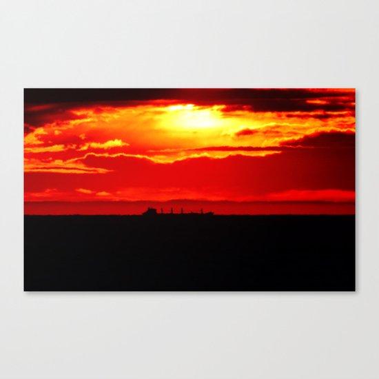 Ship under the Sun Canvas Print