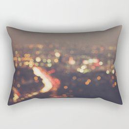 Los Angeles cityscape at night. Abstract Mulholland Rectangular Pillow