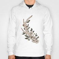 antler Hoodies featuring Floral Antler by Jessica Roux