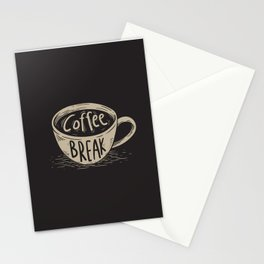 Coffee Break Painting Artwork Stationery Cards