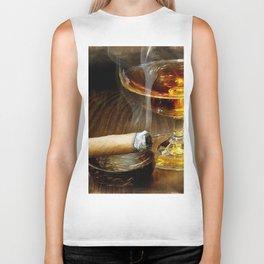 Cigar And Cordial Painting Foodie Cigar Lover Smoking Smoker Biker Tank