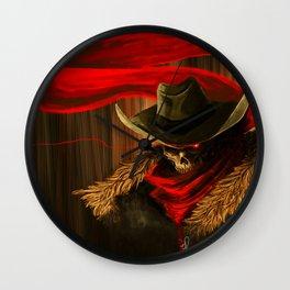 Skull Cowboy Wall Clock