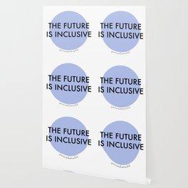 The Future Is Inclusive - Blue Wallpaper