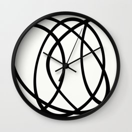 Community - Black and white abstract Wall Clock