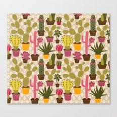 Cactus Cuties Canvas Print