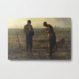 The Angelus by Jean Francois Millet Metal Print