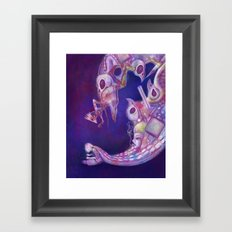 Brain Vomit Framed Art Print