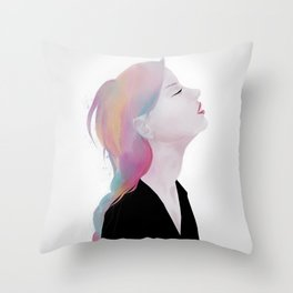 She claimed to be antique roses and lost dreams Throw Pillow