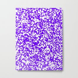 Small Spots - White and Indigo Violet Metal Print