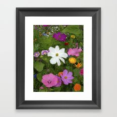 flower garden II Framed Art Print