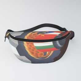 retro poster Plovdiv voyage poster Fanny Pack