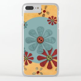 Country Flowers Clear iPhone Case