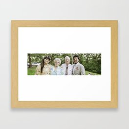 With the Grandparents Framed Art Print