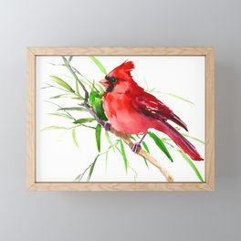 Cardinal Bird Framed Mini Art Print