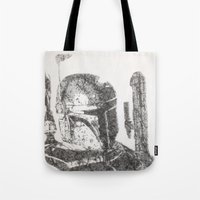 boba fett Tote Bags featuring Boba Fett by urbanexpressionist