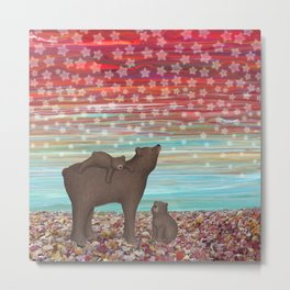 brown bears and stars Metal Print