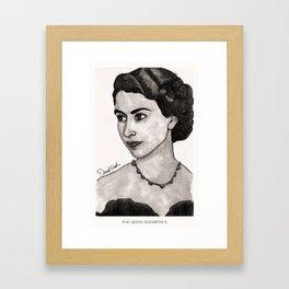 H.M. Queen Elizabeth II Framed Art Print