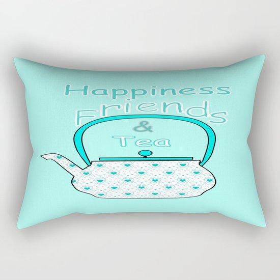 Happiness And Tea Rectangular Pillow