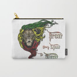 Reggae, Rasta, Rastafari Lion, Iron, like a Lion in Zion. Jamaican music, well known song quote Carry-All Pouch