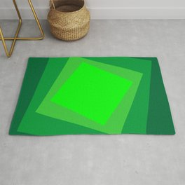 Green squares. Simple geometric background with a light center for your website or business card. Rug