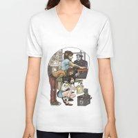 oz V-neck T-shirts featuring Wizard of Oz by Ramon Villalobos