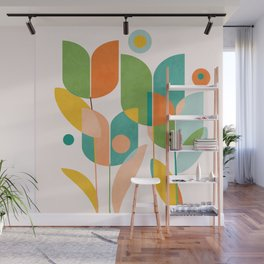 floral shapes IV Wall Mural