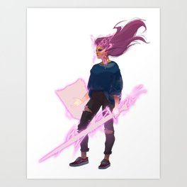 Modern Day Knight Art Print