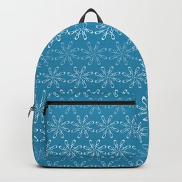 Winter Letter J Pattern Backpack