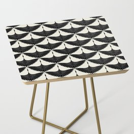 CRANE DESIGN - pattern - Black and White Side Table