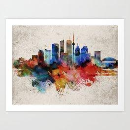 Toronto Abstract Skyline Art Print
