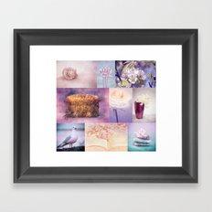 ROMANTIC COLLAGE Framed Art Print