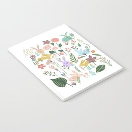 Springtime In The Bunny Garden Of Floral Delights Notebook