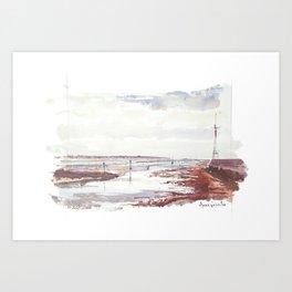 Entrée du Port du Pouliguen Art Print
