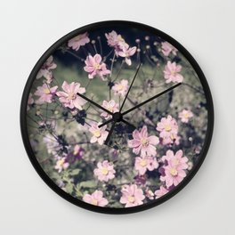 pretty faded in pink Wall Clock