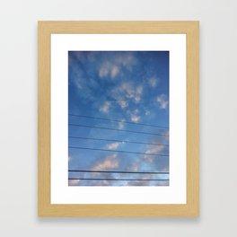 Rustic America: Blue Skies & Power Lines Framed Art Print