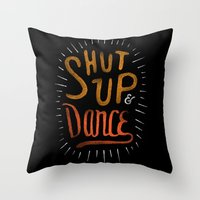dance Throw Pillows featuring Dance by skitchism
