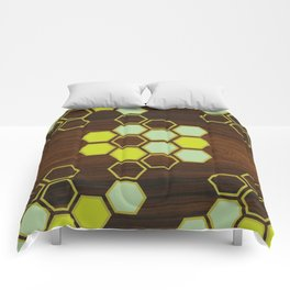Hex in Green Comforters