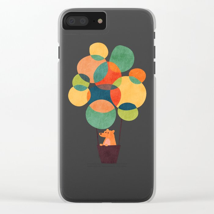Whimsical Hot Air Balloon Clear iPhone Case