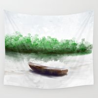 boat Wall Tapestries featuring Boat by Jessielee