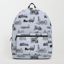 Antique Steam Engines // Steel Grey Backpack