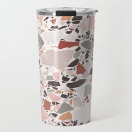 Neutral Terrazzo / Earth Tone Abstraction Travel Mug