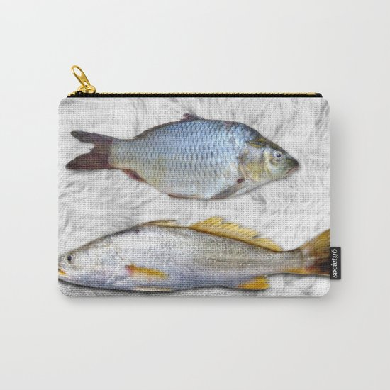Fish on Fur Carry-All Pouch