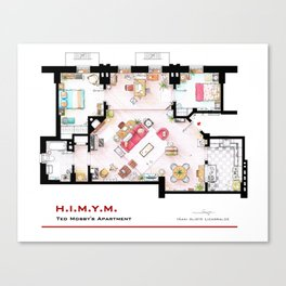 Ted Mosby apartment from 'HIMYM' Canvas Print