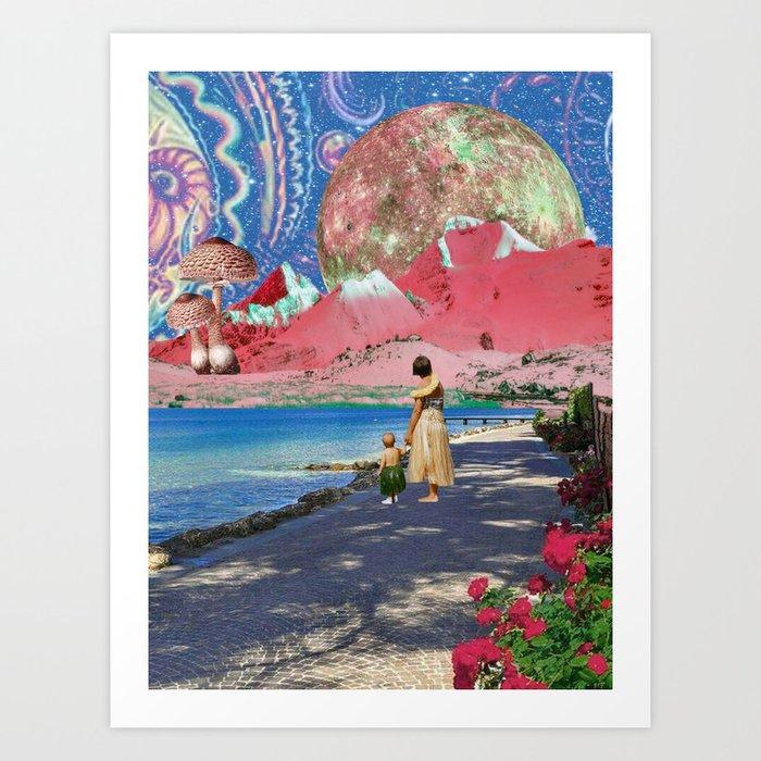 Goodbye Hawaii Art Print