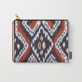 Ikat Print Carry-All Pouch