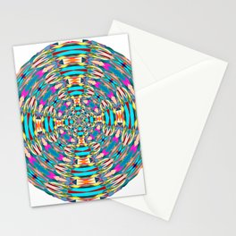 321 - Abstract Colourful Orb design Stationery Cards