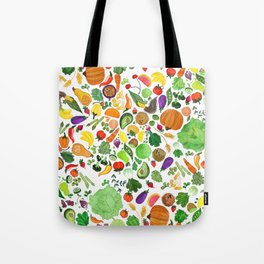 Fruit and Veg Pattern Tote Bag