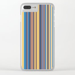 Stripe obsession color mode #6 Clear iPhone Case